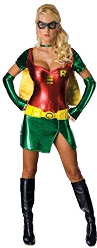 Aimerfeel erwachsenen Damen sexy Robin Kostüm Outfit DC Comics Phantasie dess Womens Party-Kleid. Größe 36 (Sexy Weiblichen Superhelden Kostüme)