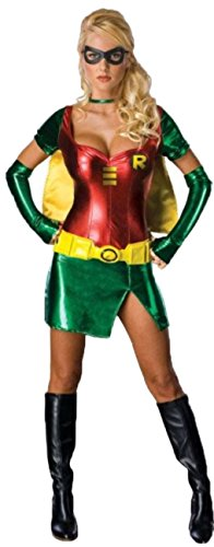 Aimerfeel erwachsenen Damen sexy Robin Kostüm Outfit DC Comics Phantasie dess Womens Party-Kleid. Größe (Superhelden Comic Weibliche)