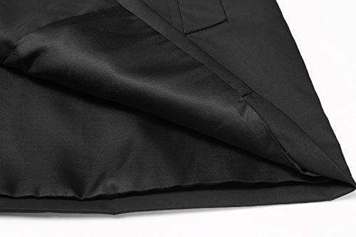 ZEARO Damen Casual Mantel Jacke Windmantel Jacket Trenchcoat Coat Bikerjacke Outwear Schwarz
