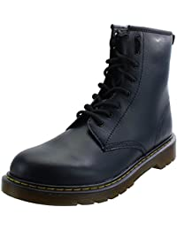 Dr Martens Delaney Y Navy Leather Youth Ankle Boots