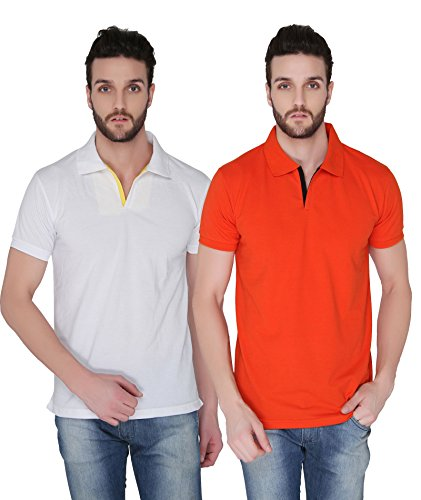 Joke Tees Solid Men's Polo T-Shirt Combo (Pack of 2) (X-Large