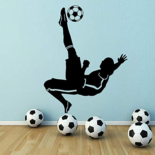SLQUIET New Football Soccer Boy Adesivi murali Decorazioni per la casa Ragazza Camera da Letto Sticker Baby Room Wall Art Decal Moda Grigio 43x55cm