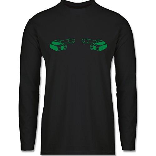 Andere Fahrzeuge - Panzer - Longsleeve / langärmeliges T-Shirt für Herren Schwarz