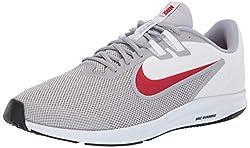 Nike Herren Downshifter 9 Laufschuhe, Grau (Wolf Grey/University Red-White-Black 006), 45 EU