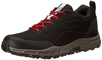 Reebok Men's Reverse Smash Lp Black, Red and White Running Shoes  - 8 UK