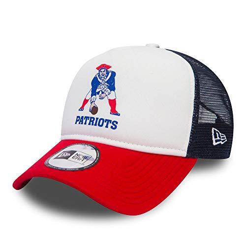 New Era NFL Throwback A-Frame Trucker Cap (New England Patriots) acb3b3abdef