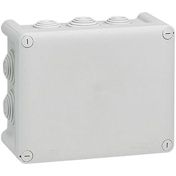 Legrand LEG92042 Boite rectangle 155x110x74 étanche plexo gris - embout (10) -ip55/ik07-750°c