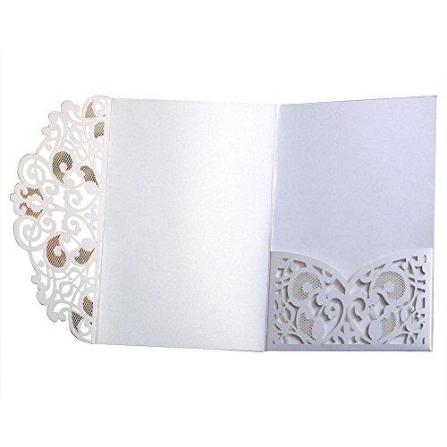 Einladungen Hochzeitseinladung Grusskarte Mit Spitze Umschlag Für Verlobung Ehe Geburtstag Brautdusche Baby Shower ()