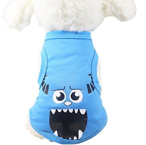 (Jiacheng29Pet Hund Katze Chinesische Charakter Cartoon Design Weste Spring Summer Kostüm Bekleidung)