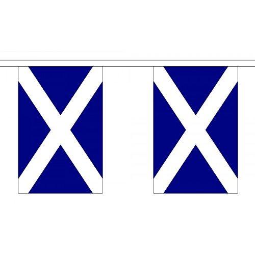 3Metri 10(22,9x 15,2cm) Bandiera Scozzese St Andrews croce di Sant' Andrea blu navy 100% poliestere, materiale ideale per feste con bandierine, decorazione per casa, pub, scuole - Andrews Croce
