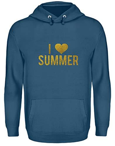 Schuhboutique Doris Finke UG (haftungsbeschränkt)) Ich Liebe den Sommer I Love Sommer Glitz – Unisex Kapuzenpullover Hoodie