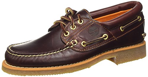 Timberland Stanwood 3 Eye, Náuticos para Hombre, Marrón MD Brown Full Grain, 50 EU