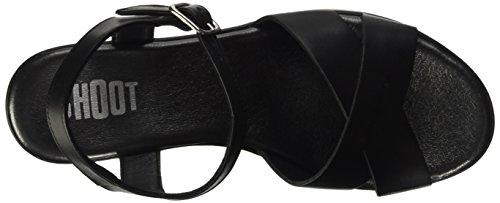 SHOOT Damen Shoes Sh-163068 Sommer Plateau Sandale Schwarz (Black)