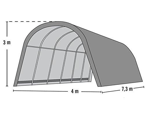ShelterLogic Run-In-Shed Weidezelt Weideunterstand Lagerzelt // 29,2 m² // 730x400x300 (LxBxH) // Weidezelt Unterstand -