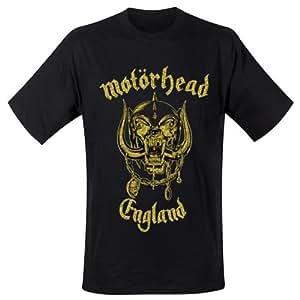 Motörhead - T-Shirt England Classic Gold (in S)