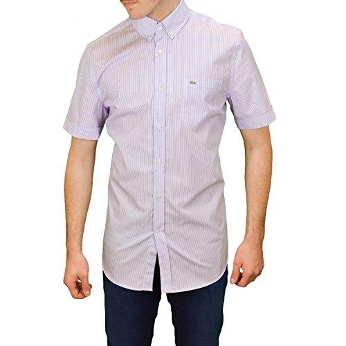 Lacoste Herren Freizeit-Hemd Violett - Violett
