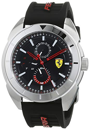 Scuderia Ferrari Reloj Multiesfera para Hombre de Cuarzo con Correa en Silicona 830546