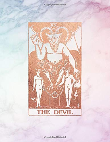 The Devil: Bullet Journal    8.5 x 11 A4 Notebook   Pastel Hue - Rainbow Marble and Gold Design - Dot Grid Notebook (Rainbow Marble and Rose Gold - Dotted Grid Notebook, Band 1)