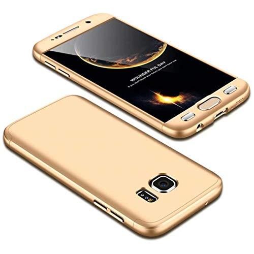 MMPENG Handyhülle Kompatibel mit Samsung Galaxy S8 Plus, 360 Grad Schutzhülle PC Gehäuse und Folie Stoßdämpfung Handy Hülle Kratzfeste Full-Cover Case 3 in 1 Schutztasche-Gold (MEHRWEG) Gold Gehäuse Cover