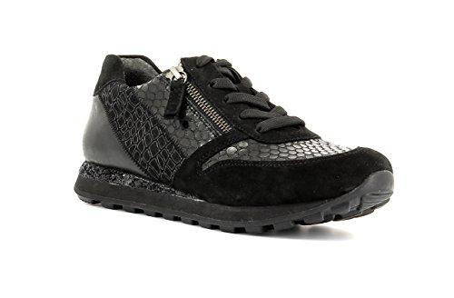 Gabor Damenschuhe 56.368.67 Damen Schnürer, Sneaker, Halbschuhe, Schnürhalbschuhe Schwarz (schwarz (S.pail)), EU 38