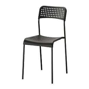 ikea chaise empilable adde chaise en plastique avec cadre en acier empilable noir. Black Bedroom Furniture Sets. Home Design Ideas