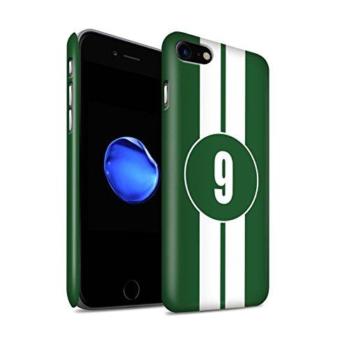 STUFF4 Matte Snap-On Hülle / Case für Apple iPhone 7 Plus / Jaguar/Grün Muster / Rennwagen Streifen Kollektion Jaguar/Grün