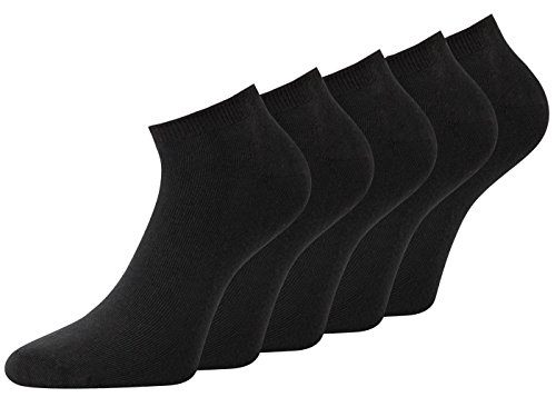 Herren Sneaker Socken schwarz Socken Sneaker Baumwolle Spitze Handgekettelt, 1 Paar oder 8 Paar