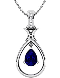 Pendant For Women With Certified Taper Baguette Real Diamond Wt 0.03 Ct In Sterling Silver 925, Silver Taper Jewels...