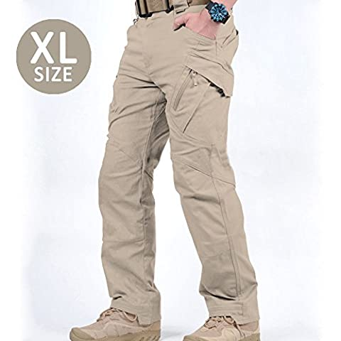★Go Tactical Pants™ ★ - Kakhi - Size: Men's X-Large - Plentiful Pockets - Amazing Stretch and Give - Practical to Playful - Durable, Machine-washable Fabric