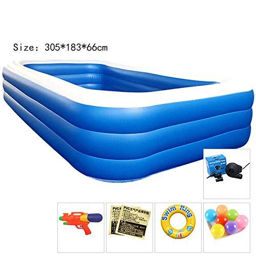 Aufblasbarer Pool Familie Übergroßen Surfen 1,8 Meter Wasser Garten Verdickung DREI-Schicht Blau Und Weiß 305 * 183 * 66Cm (7-9 Personen)