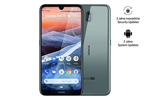 Nokia 3.2 Dual SIM Smartphone - mercancía alemana (15,9 cm (6,26 pulgadas), cámara principal de 13 MP, 2 GB de RAM, 16 GB de memoria interna, Android 9 Pie) acero