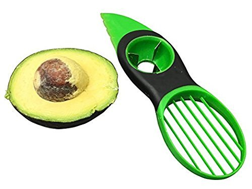 Image of PREMIUM Avocadoschäler | 3 in 1 Avocado Schäler | Avocadoschneider | Slicer > BPA frei - leicht zu reinigen (grün)