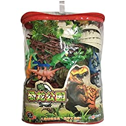 Szseven Dinosaur Toy Figure with Activity Play Mat & Trees Set, Realistic Dinosaur Figures Activity Prehistoric Playset Toy Dinosaurs for Children Regali di Compleanno,