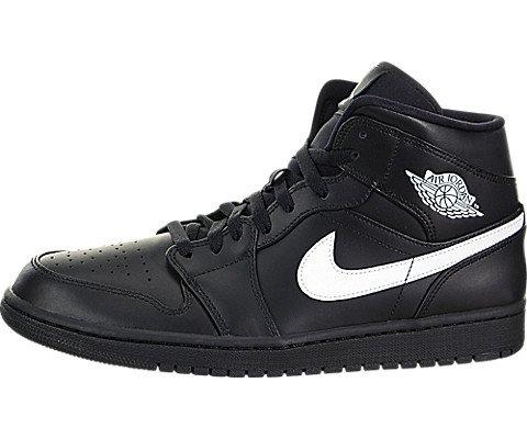 Nike Herren AIR Jordan 1 MID Basketballschuhe, Mehrfarbig White-Black 049, 46 EU