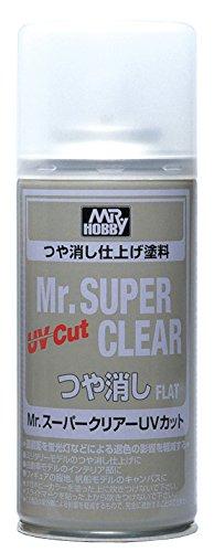 Mr. Super Clear Spray UV Cut (Flat) 170ml. Gundam Hobby (Flat)