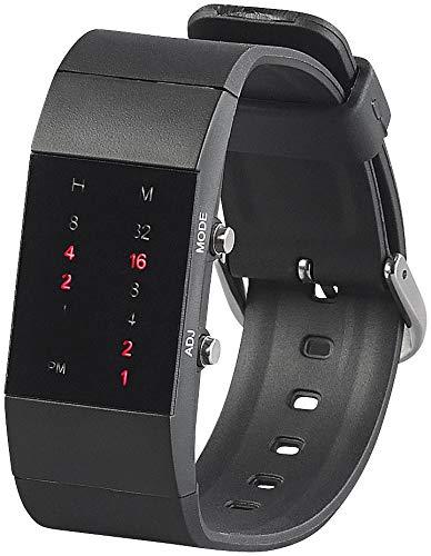 St. Leonhard Binäre Uhr Damen: Binär-Armbanduhr Future Line mit roter Anzeige, für Damen (Binäruhr Damen)