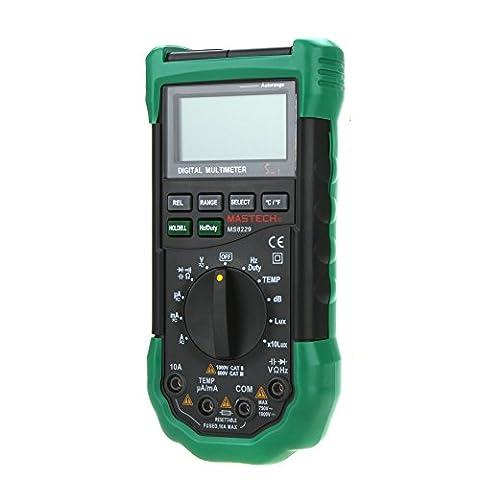 Mastech Ms8229Auto-range rétroéclairage LCD DMM Digital Multimeters W/bruit Illumination humidité et testeur