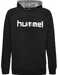 hummel HMLGO Cotton Logo Hoodie, Felpe con Cappuccio Uomo, Nero, XL