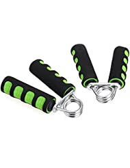 2PCS Ejercitador de Manos Dedos Musculos Color Verde Negro