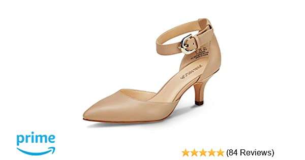 48ac5e5d7f Women's Court Shoes Kitten Heels Ladies Closed Pointed Toe Sandals Shoes  Casual for Wedding Party
