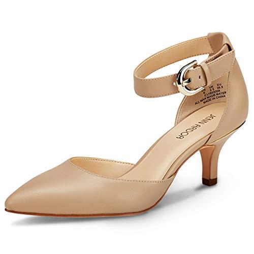 Frauen Court Schuhe Kitten Heels Damen geschlossen Spitz Sandalen Schuhe Casual für Hochzeit