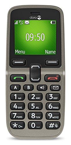 Doro 5030 GSM Mobiltelefon (Großes beleuchtetes Farbdisplay, Schriftgröße der Displayanzeige einstellbar) champagner