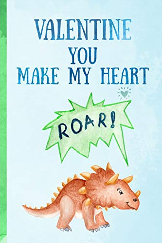 y heart roar!: Triceratops Novelty Blank Lined notebook. Perfect as a gift for a loved one(more useful than a card!)Dinosaur ()