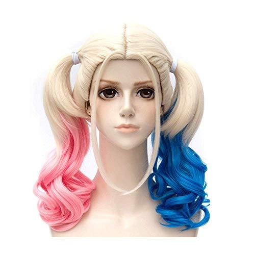 Perücke, Ladies Gradient COS Perücke, Halloween Rollenspiel Birne Blume Mode Kurzes lockiges Haar Polystyrol (Keine Birne Halloween)