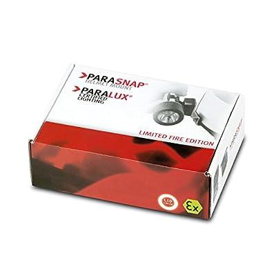 Parat 6911220158 Limited Fire-Edition Sicherheitslampe inkl. PARASNAP© Helmhalter Rechts, 1 Stück, gelb, 6.911.220.158 von PARAT GmbH & Co. KG - Outdoor Shop