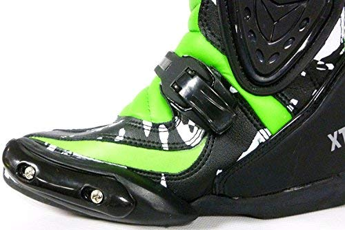 NEU RACING KIDS STIEFEL XTRM ADVENTURE MOTOCROSS KINDER MX TRACK STIEFEL GRüN (34)