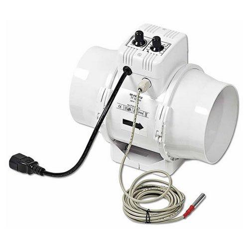 Vents Extracteur TTUN 125mm - 280m3 - Speed Controler + Thermostat 4m