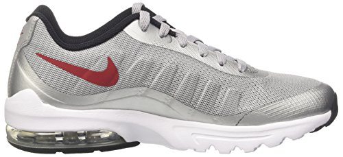 Nike Air Max Invigor, Scarpe da Ginnastica Uomo Multicolore (Wolf Grey/Varsity Red/Black/White)