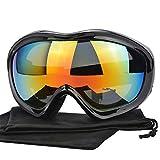 Yimorex Skibrille Snowboard Brille Schneebrille Outdoor Schutzbrillen mit Anti-Nebel UV-Schutz Zweilagige Anti-Fog PC Objektiv Austauschbare sphärische rahmenlose