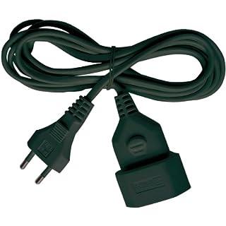 Brennenstuhl Kunstoff-Verlängerungskabel (für den Innenbereich, 3m Kabel, mit Euro-Stecker und Kupplung) schwarz